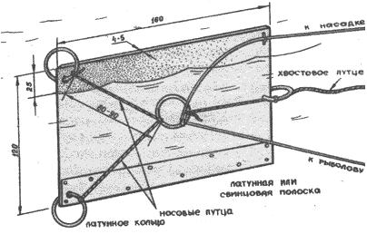водяной змеек рыбная ловля  чертеж